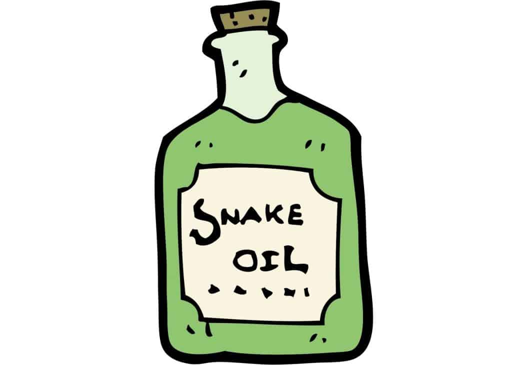 Bottle of snake oil